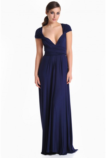 Blair Multi Way Maxi Dress in Navy