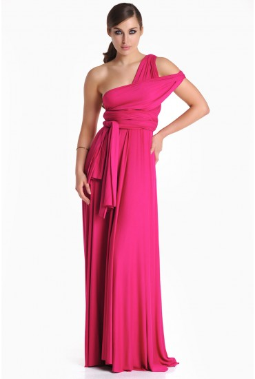 Blair Multi Way Maxi Dress in Magenta