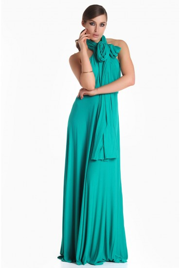 Blair Multi Way Maxi Dress in Emerald