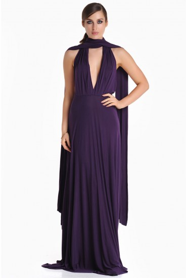 Blair Multi Way Maxi Dress in Purple