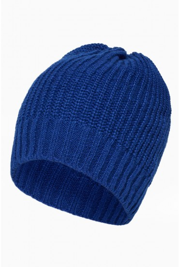 Saga Knit Hat in Blue