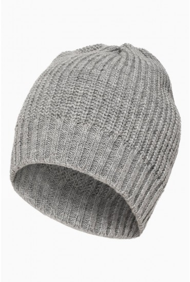 Saga Knit Hat in Grey