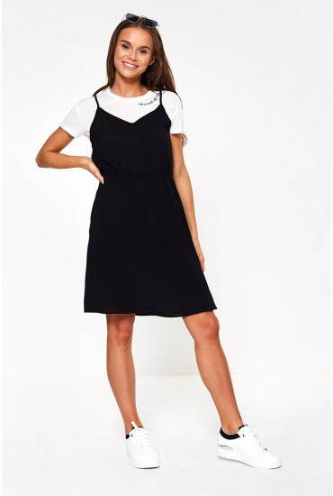 Saga Short Dress in Black