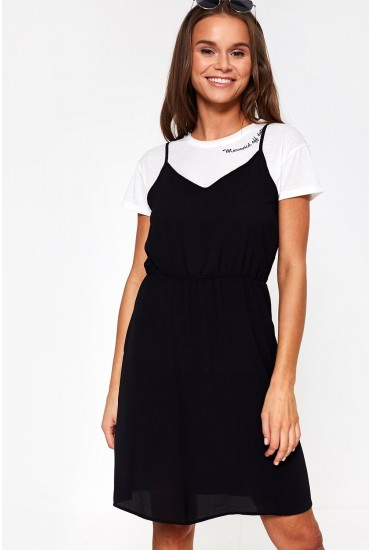 Saga Short Dress in Black