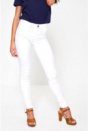 Sage Shape Up Jeggings in White