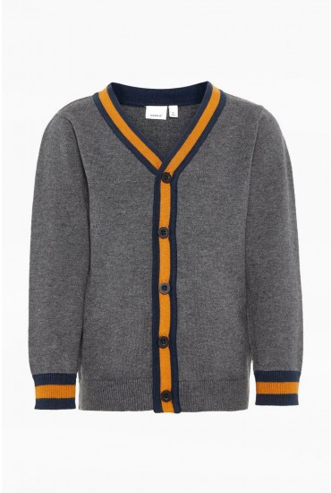 Sak Boys Knit Cardigan in Grey