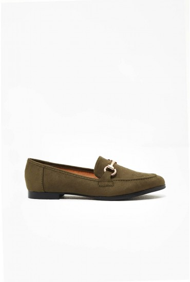 Rene Loafer in Khaki Suede