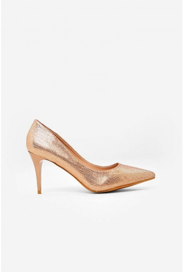 Cailin Court Shoe in Champagne