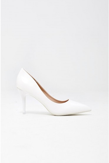 Cintia Court Shoes in White