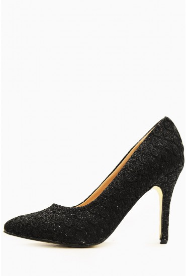 Tyra Sparkle Pointed Court Shoe