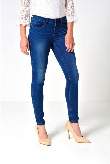 Seven Short Shape Up Jeans in Medium Blue