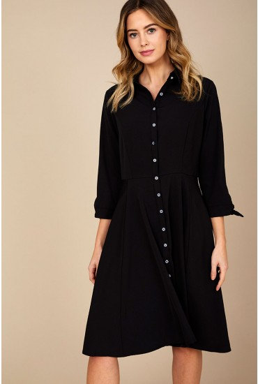 Jodie Shirt Dress in Black
