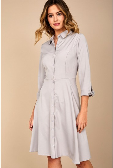 Jodie Shirt Dress in Grey