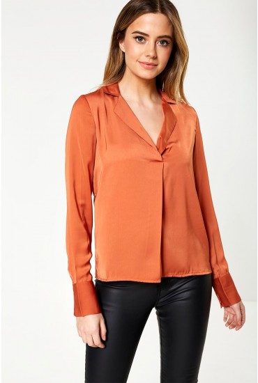 Maila Shirt in Rust