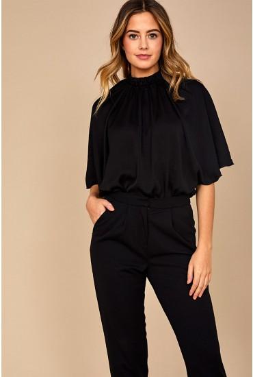 Margoni Short Sleeve Body Stocking in Black