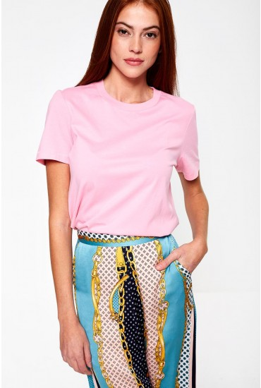 Classic Short Sleeve T-Shirt in Pink