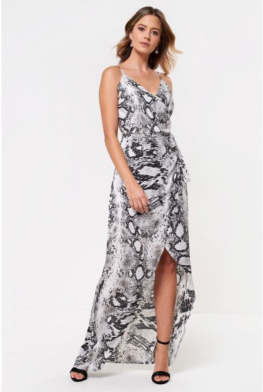 Thea Snakeskin Maxi Dress