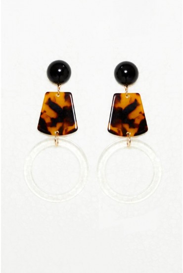 Signa Drop Earrings in Black