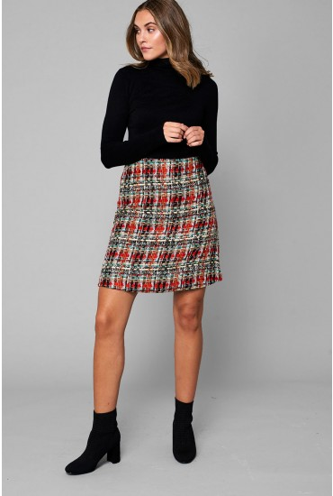 Kylie Short Tweed Skirt