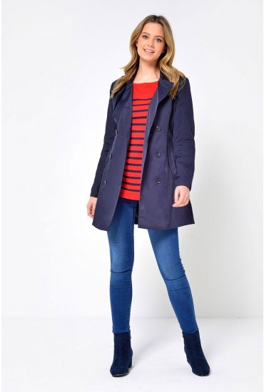 Lucy Classic Trench Coat in Navy