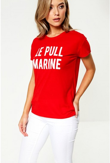 Nixon Slogan T-shirt in Red