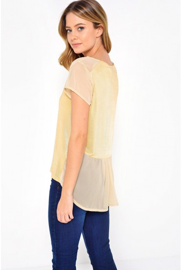 Sandy Shimmer Tee in Gold