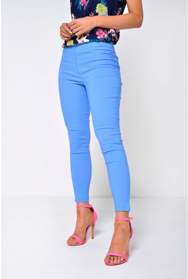 Nadia High Waist Jeggings in Blue