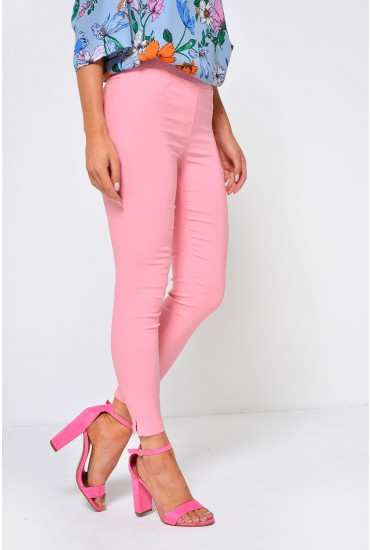 Nadia High Waist Jeggings in Pink