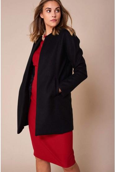 Seth Classic Slim Coat in Black