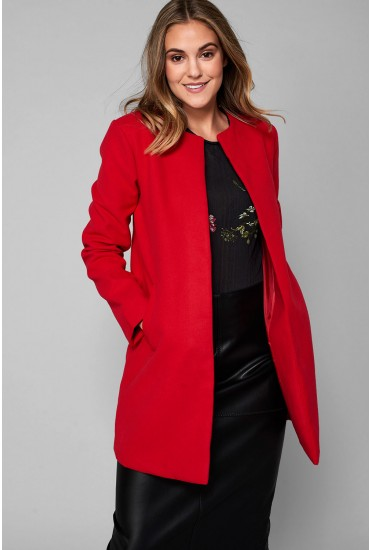 Seth Classic Slim Coat in Red