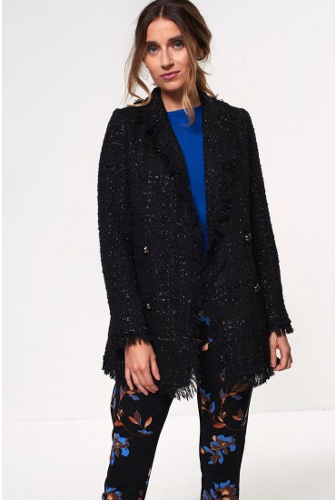 Sparkle Boucle Blazer in Black