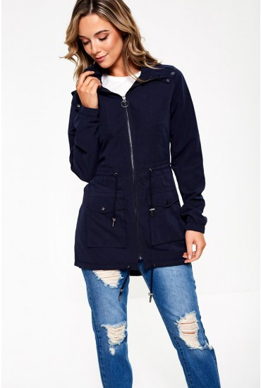 Starry Spring Parka Jacket in Navy