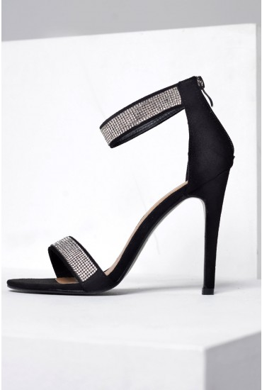 Cindy Barley There Sparkle Sandal in Black