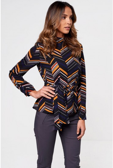 Jasper High Neck Blouse