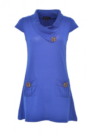 Pearl Pocket Tunic in Blue
