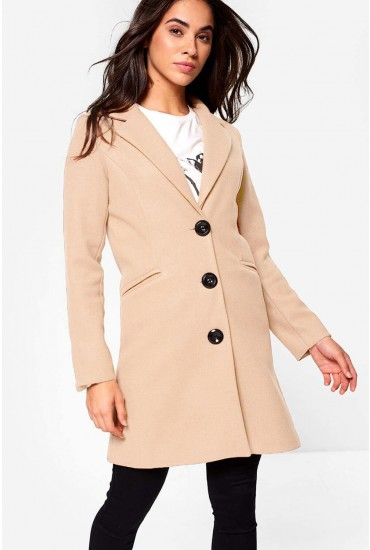 Louis Tailored Coat in Beige