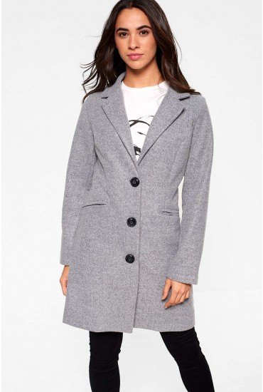 Louis Tailored Coat in Grey