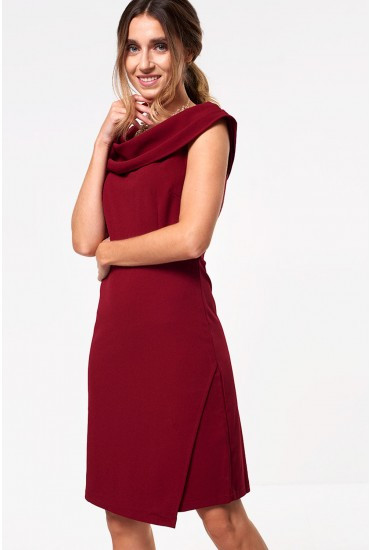 Julia Tailored Dress in Wine