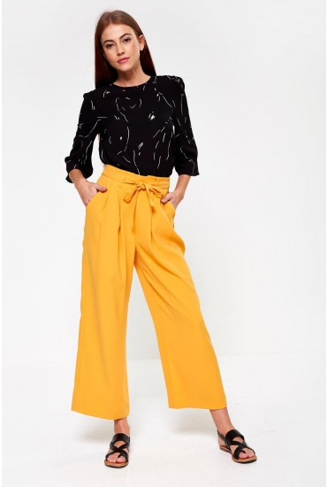 Denise High Rise Wide Leg Trousers in Sunset
