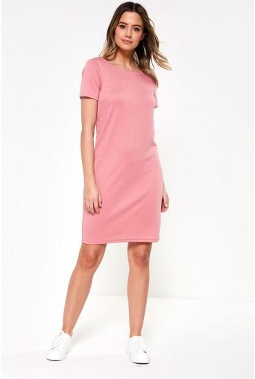 Tinny New Short Sleeve Dress in Bubblegum