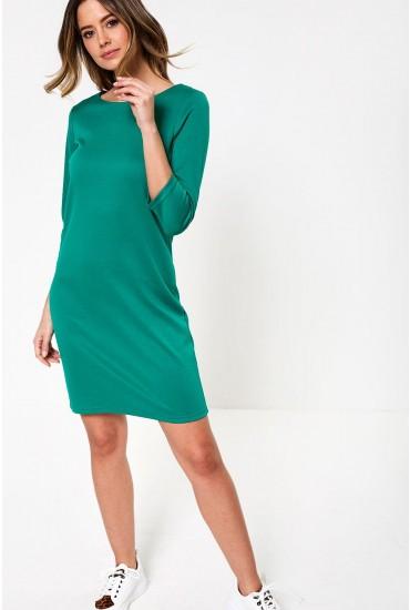 Tinny Three Quarter Sleeve Dress in Green