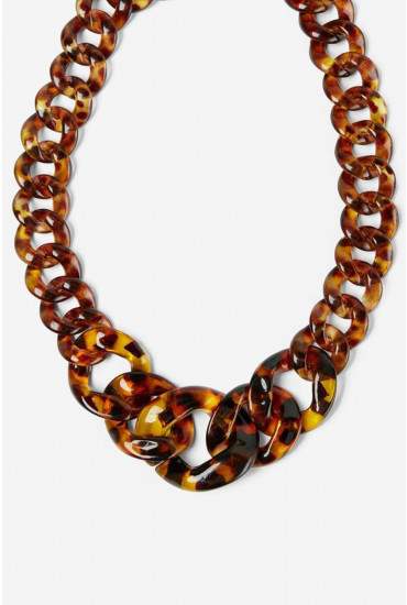 Sierra Tortoiseshell Chain Necklace