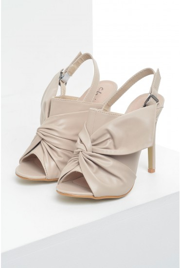 Jules Knotted Heels in Natural