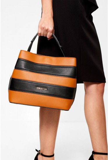 Alicia Tote Bag in Multi Stripe