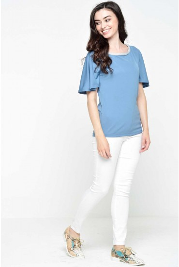 Melissa Cape Top in Teal