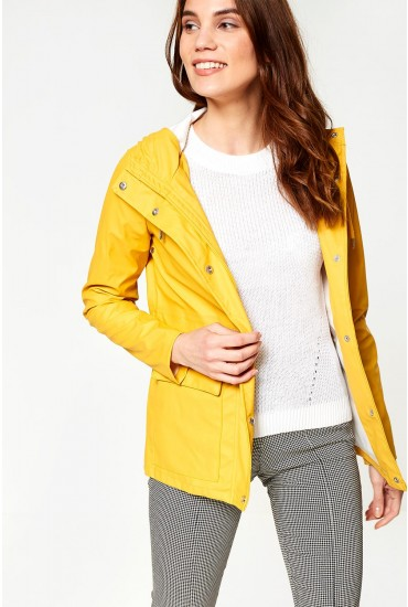 Train Raincoat in Yellow