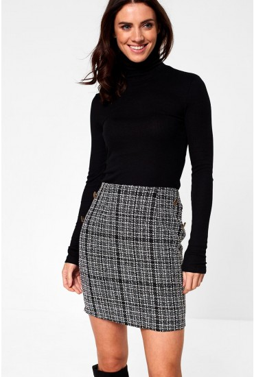 Amanda Tweed Skirt in Black