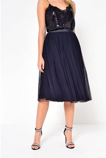 Val Tulle Skirt in Black