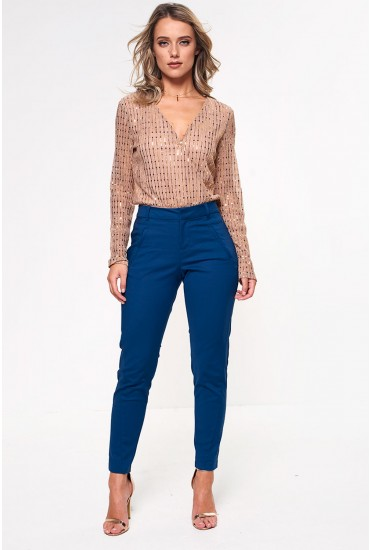 Victoria Regular Length Ankle Trousers in Teal