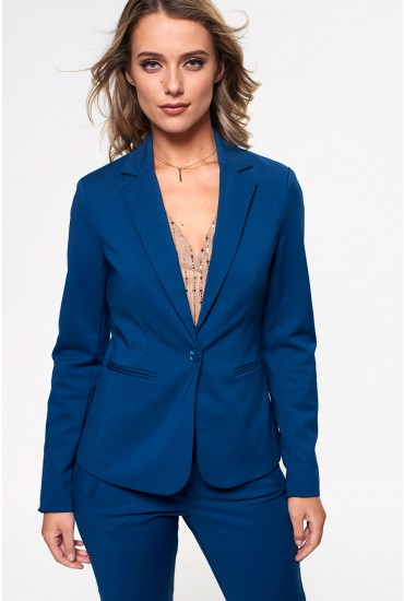 Victoria Long Sleeve Blazer in Teal